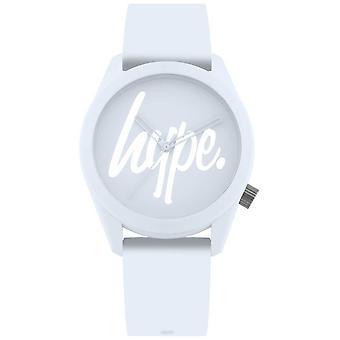 Hype | Womens licht blauw siliconen band | Licht blauwe wijzerplaat HYL001U Watch