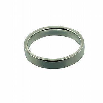Sølv 4mm almindelig flad retten Wedding Ring størrelse Z