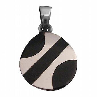 925 Sterling Silver 15mm Round Pendant Holiday Gift