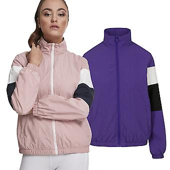 Urban classics ladies - 3-tone CRINKLE short track jacket
