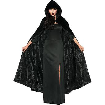 Satin Cape Black
