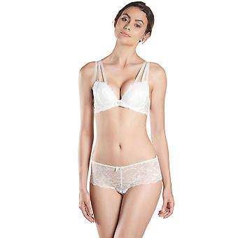 Aubade NC18 vrouwen Fievre de Glace opaal wit Floral Lace Padded BH Plunge beha