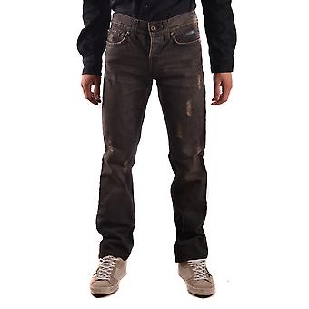 John Richmond Ezbc082050 Men's Brown Cotton Jeans