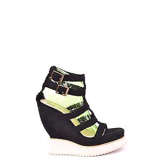 Paloma Barceló Ezbc129001 Dames's Black Leather Sandalen