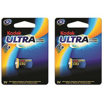 2-pack Battery CR2 Lithium Kodak Ultra, 3V