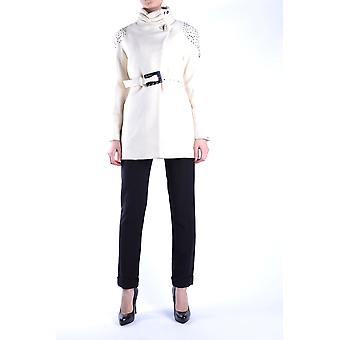 Balizza Ezbc206004 Damen's weiße Wollmantel