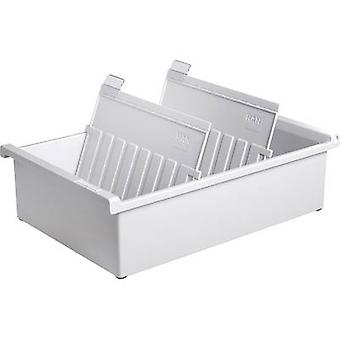 HAN 955-0-11 Card index tray Light grey No. of cards (max.): 1.300 cards A5 landscape