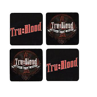 True Blood 4 x Coaster Logo new Official Set in presentation box