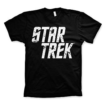 Men's Star Trek Distressed Logo Black T-Shirt