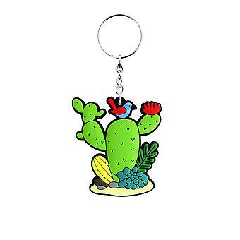Grindstore mignon cactus de barbarie porte-clé en caoutchouc