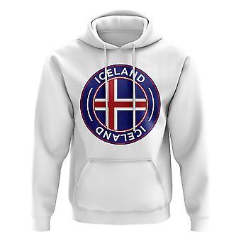 Iceland sudadera con capucha de fútbol (blanco)