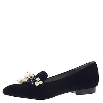 Bellini Womens Fabulous Fabric Pointed Toe Loafers