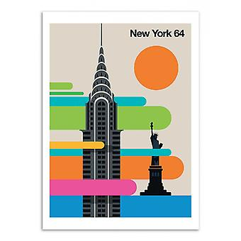 Art-Poster - New York 64 - Bo Lundberg 50 x 70 cm