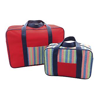 Country Club 2 Pack Cooler Bag Set Stripe