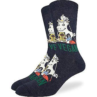 Socks - Good Luck Sock - Men's Crew Socks  - Vegan (7-12) 1443