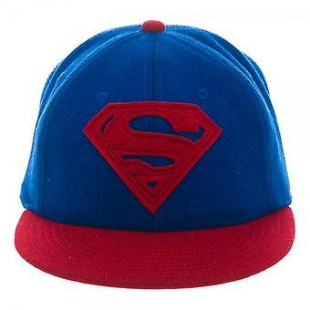Baseball Cap - Superman - Wool Adjustable Flatbill Hat Toys bi2ncjspm
