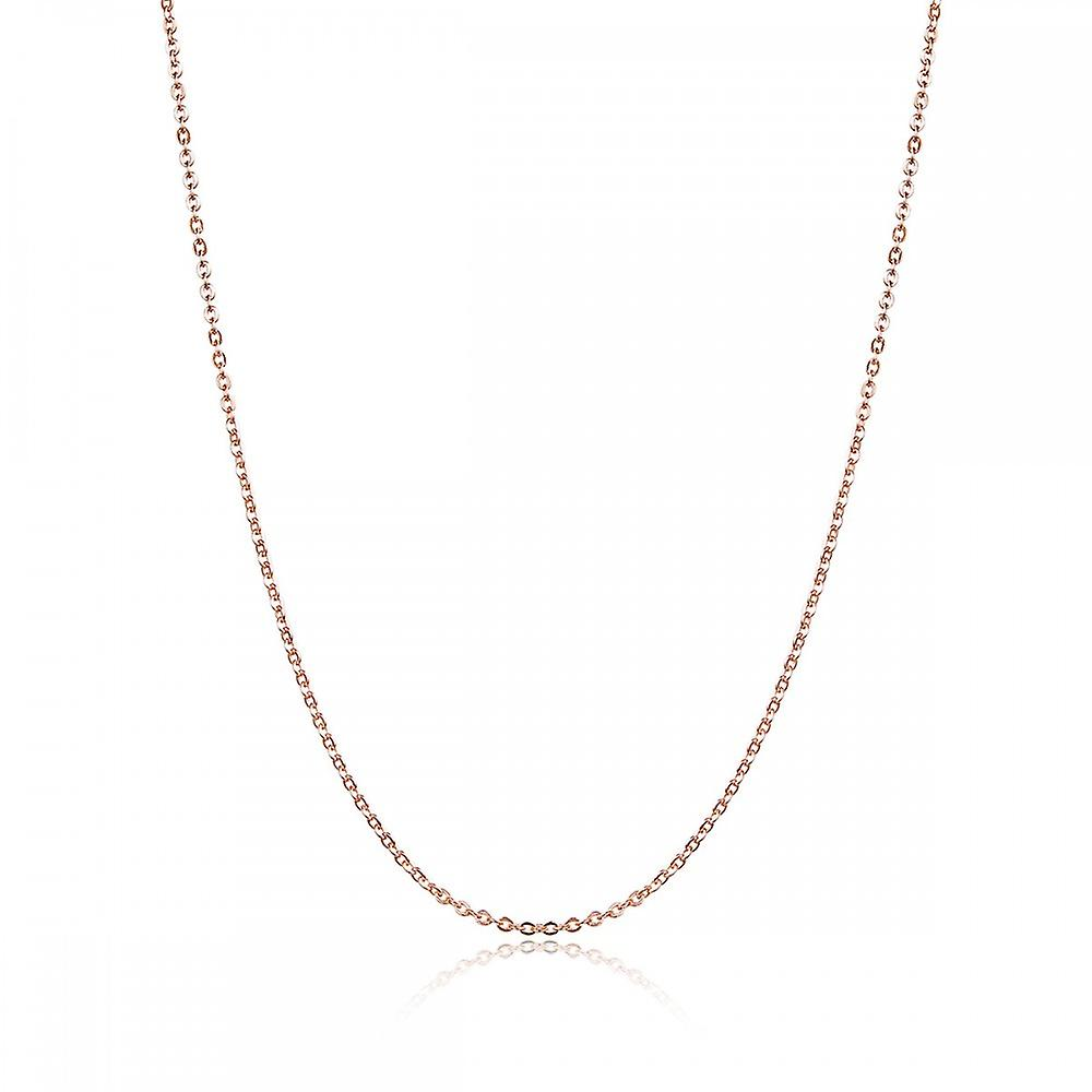 Sterling silver necklace with lobster clasp rose gold color Size in cm 45