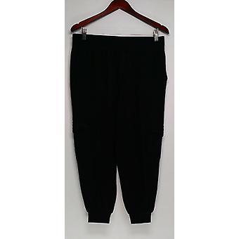 Anybody Petite Pants SP Loungewear Cozy Knit Cargo Black A310165