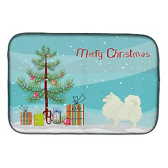 Carolines Treasures  CK3565DDM Spitz Christmas Tree Dish Drying Mat