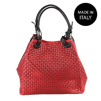 Leather shoulder bag Made in Italy 80047