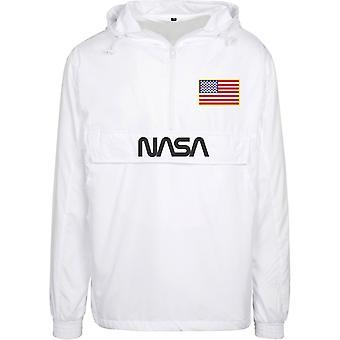 Mister Tee NASA Worm Logo Pull Over Jacket White