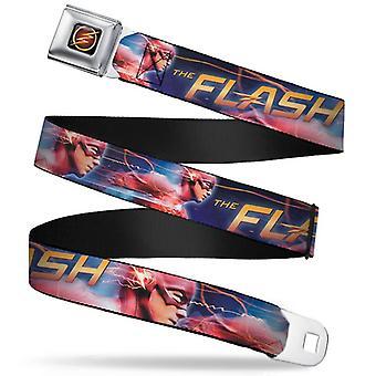 Seatbelt Belt - DC Comics - Flash V.2 Adj 24-38' Mesh New flh-wfl007