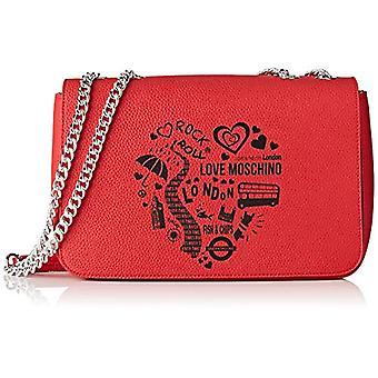 Bolso de hombro de mujer Love Moschino Pu (rojo) 15x10x15 cm (ancho x alto x alto)