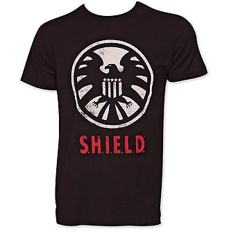 Avengers tarczy Logo Koszulka - czarna