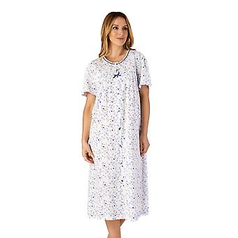 Slenderella ND4102 Femme-apos;s Jersey Floral Cotton Nightdress