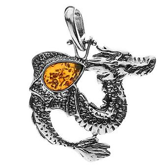 InCollections 0010200700890 - Unisex Pendant with Amber - Silver Sterling 925