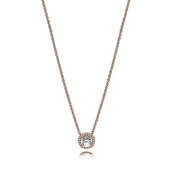 Pandora Necklace with Silver Woman Pendant - 386240CZ-45