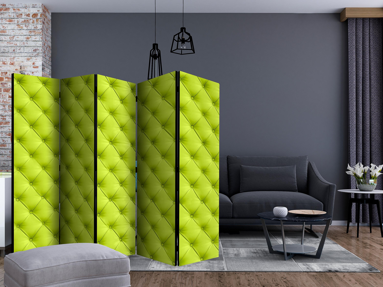 Paravent 5 volets - Lime detente [Room Dividers]