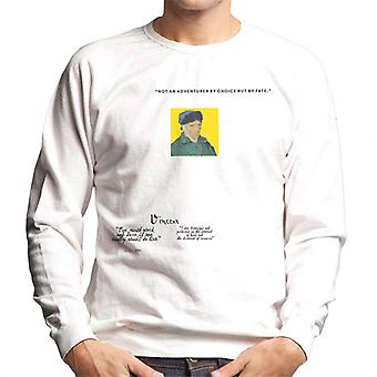 A.P.O.H Vincent van Gogh One Must Work And Dare Quote Men's Sweatshirt