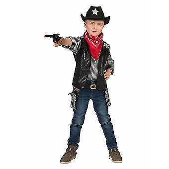 Puku cowboy liivi Ryder lapsi cowboy puku lapset puku villi länsi musta karnevaali