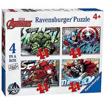 Ravensburger Marvel Avengers samler 4 i en kasse puslespil
