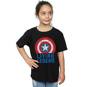 Marvel Girls Captain America Living Legend T-Shirt