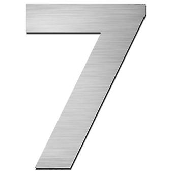 Serafini house number 7 stainless steel V4A self-adhesive height 15 cm