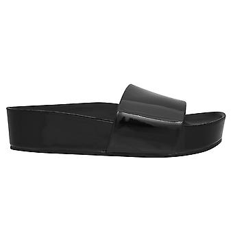 Aldo Womens Ladies Haiveth Platform Slides Patent Casual Sandals Summer Shoes