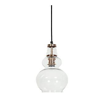 Light & Living Hanging Pendant Lamp D20x32cm Cile Glass Copper