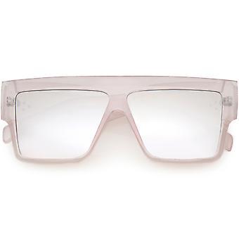 Moderni ylisuuri tasainen alkuun Design rohkea paksu käsi varret neliö aurinko lasit 56mm
