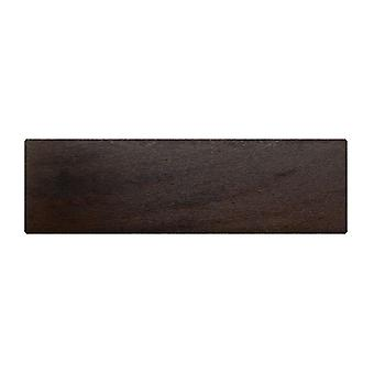 Rectangular dark brown wooden furniture leg 4.5 cm