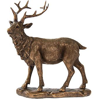 Reflections Bronzed Gazing Stag beautifully crafted Home Decoration