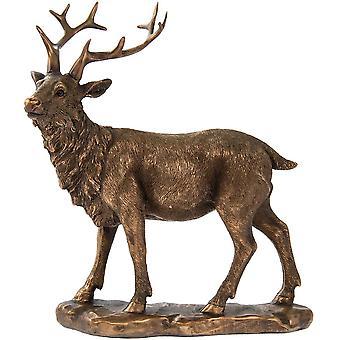 Heijastukset Bronzed katselu Stag kauniisti muotoiltu kodin sisustus
