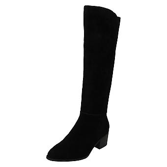 Ladies Leather Collection Knee High Boots F51052