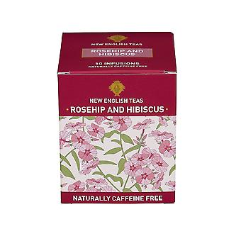 Rosehip and hibiscus tea 10 individually wrapped teabags