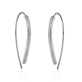 Thread earrings created with swarovski® crystals