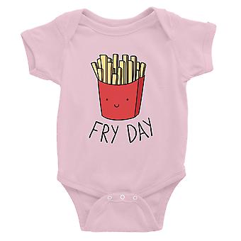 365 Printing Fry Day Baby Bodysuit Gift Pink For Baby Boy Birthday Baby Jumpsuit