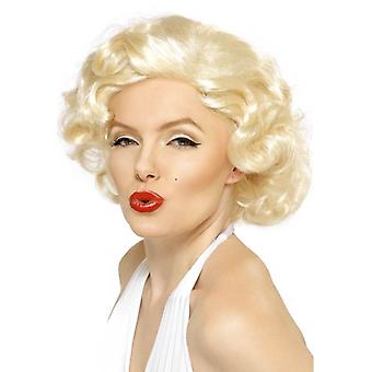 短編映画映画スター、マリリン ・ モンローの絶世の美人ウィッグ ウェーブのかかったブロンドのかつら