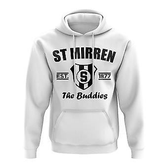St Mirren Established Football Hoody (White)