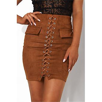 Lace up rok